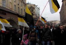 1 марта. Колонна националистов на Марше против Путина