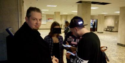 Глава бригады КНС «Север» Георгий Шишков вместе с соратниками посетил в больнице активистов, избитых ОМОНом