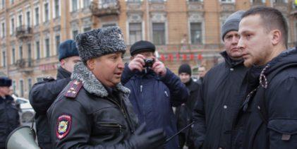 Русский Марш прошёл в Санкт-Петербурге в формате возложения цветов к месту героической гибели участников антибольшевистского сопротивления