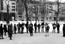 Русские политэмигранты Литвы вышли на митинг против политического террора в РФ