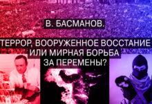 В. Басманов. Террор, вооруженное восстание или мирная борьба за перемены?