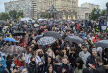 «Путина в отставку!», «Москва, выходи!» – сотни москвичей приняли участие в акции протеста против обнуления президентских сроков Путина