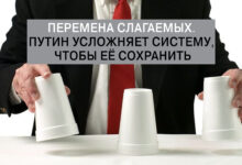 Перемена слагаемых. Путин усложняет Систему, чтобы её сохранить