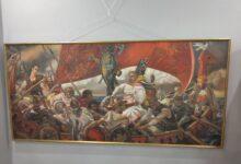 Герб Комитета «Нация и Свобода»*, на картине художника Константина Васильева