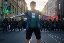 Русские Националисты Санкт-Петербурга посетили акцию в защиту независимых кандидатов, и развернули плакаты в поддержку узников совести